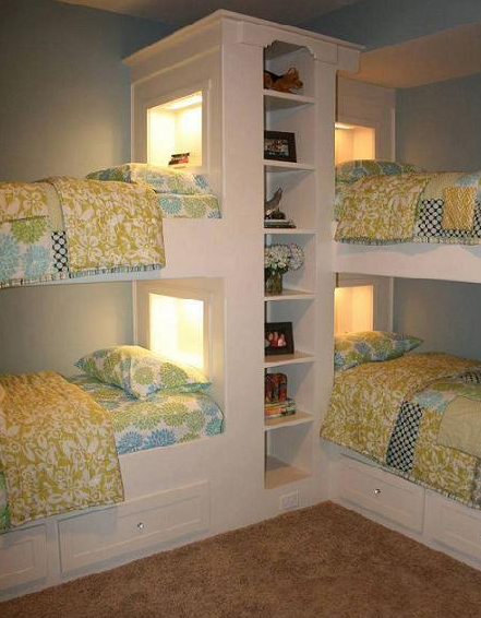 Ideas For Bunk Beds cool corner bunk bed building ideas