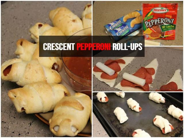 Crescent Pepperoni Roll-Ups Recipe