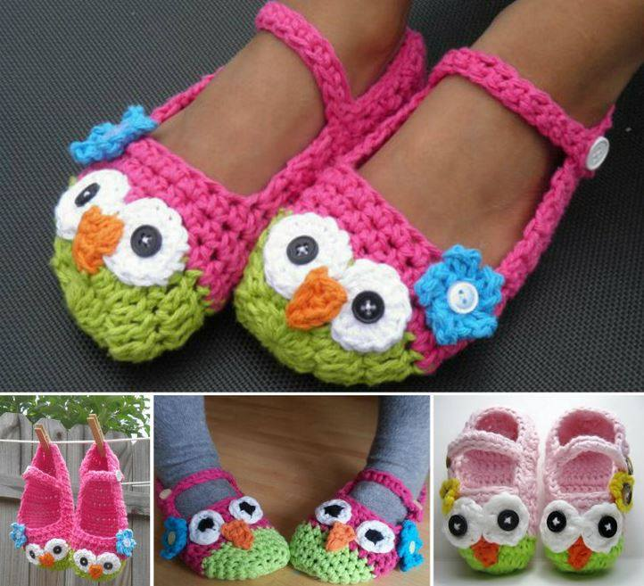 These Crochet Mary Jane Owl Slippers are so adorable that you won't ...