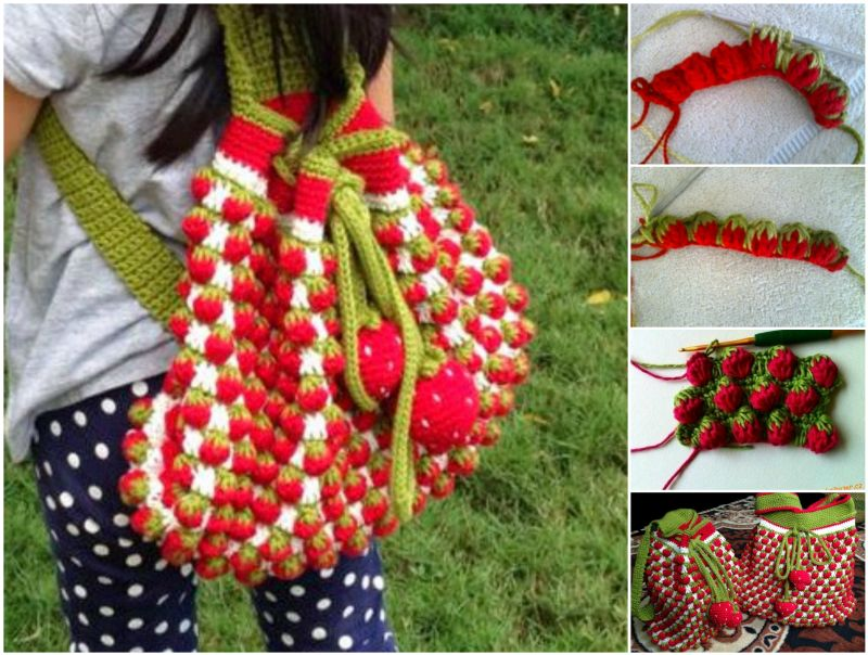 Diy Adorable Crochet Strawberry Stitch