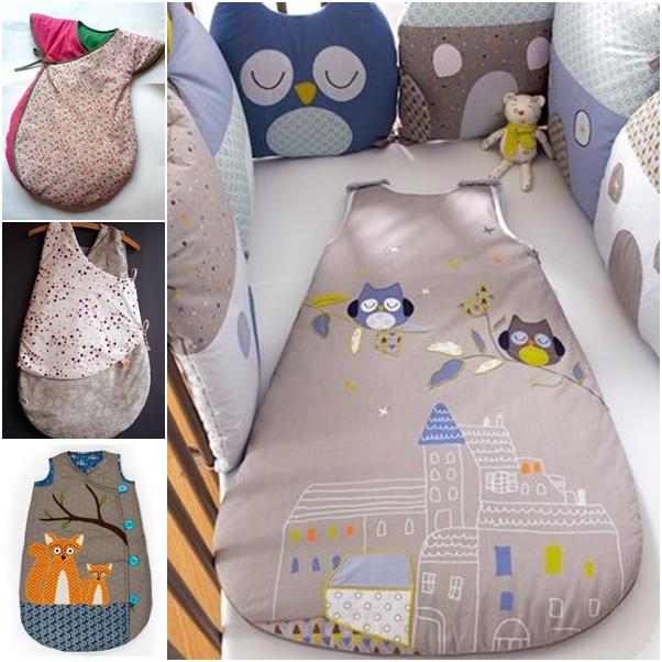 DIY Simple Baby Sleeping Bag from Free Template