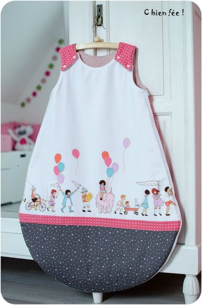 How to diy simple baby sleeping bag from free template - Manualidades de tela para el hogar ...