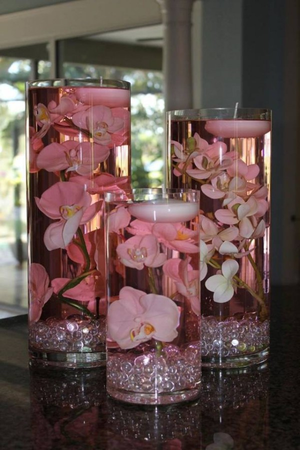 DIY Floating Candle Centerpiece Ideas (Video) with flowers