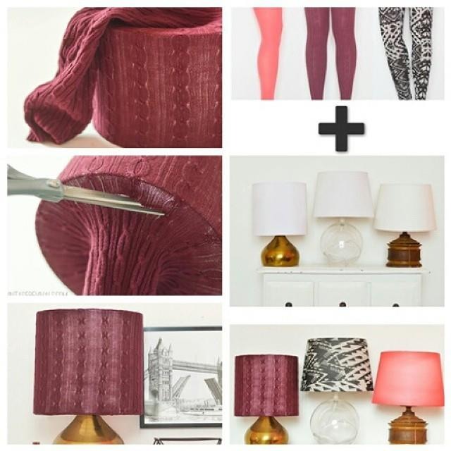 How To DIY Simple Legging Lampshade