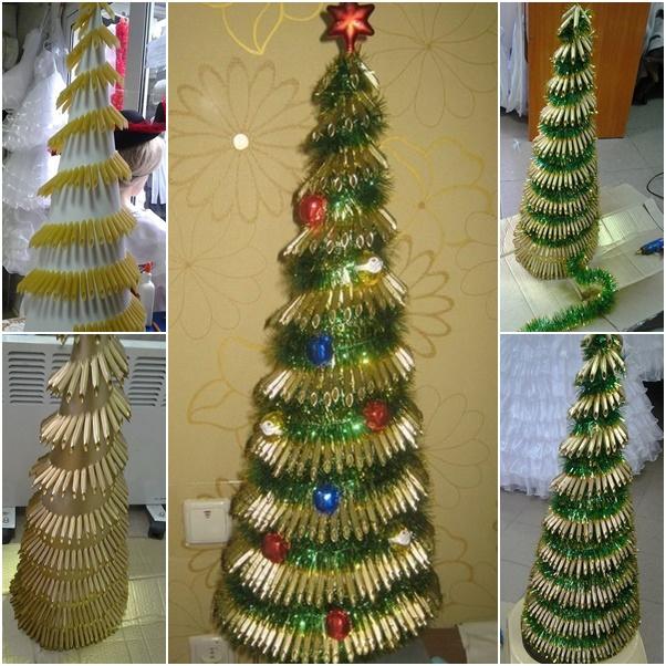 DIY Pasta Christmas Tree Tutorial