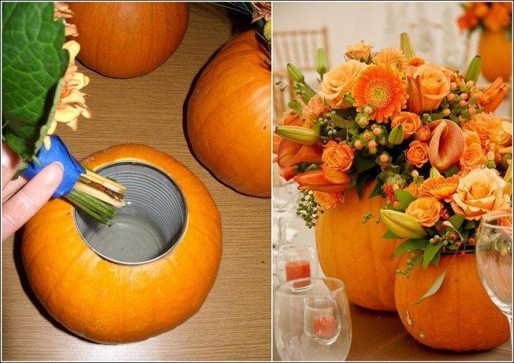 How to diy pumpkin vase or planter