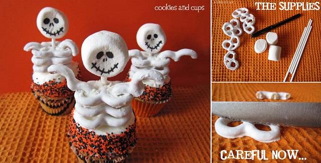 DIY Skeleton Cupcakes