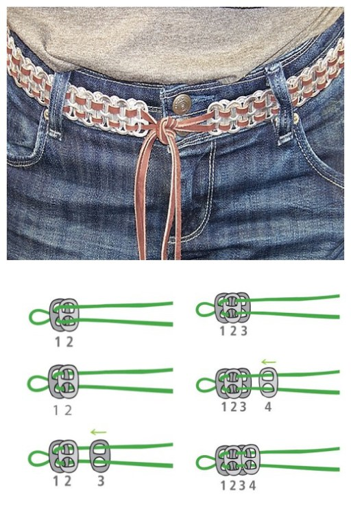 How to DIY Soda Pull Tab Belt Tutorial