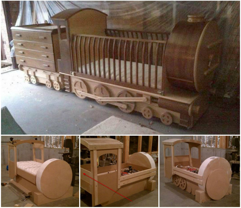How to DIY Amazing Train Bed Tutorial