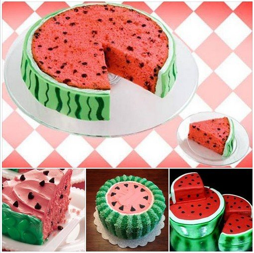 DIY watermelon cake