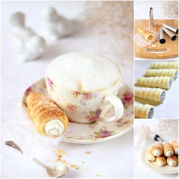 French tube with mascarpone cream