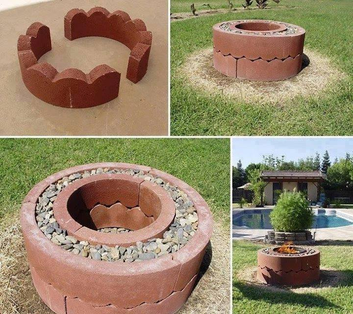 How to build your very own mobile fire pit for just 50 for Diy brick projects