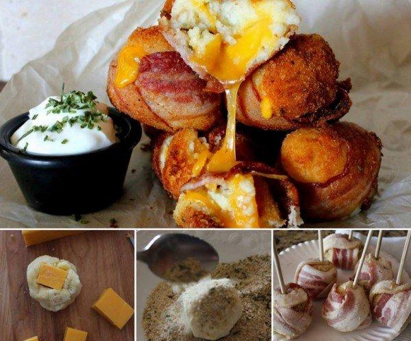 Mash Potato Bacon Bombs diy tutorial