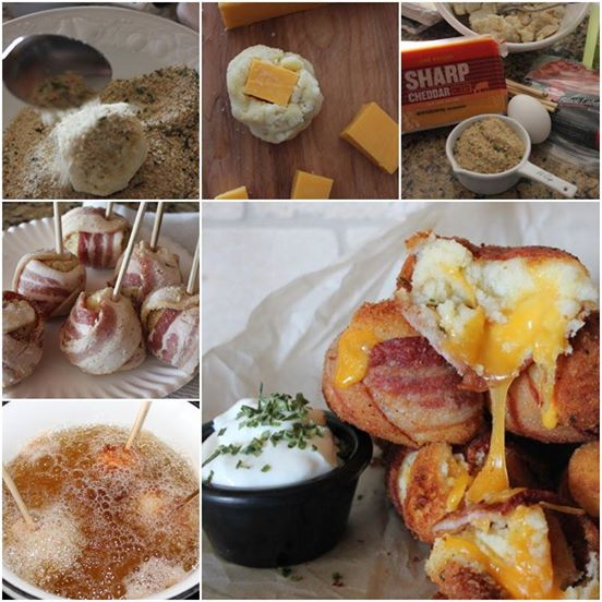 DIY Mashed Potato Bacon Bomb recipe and tutorial