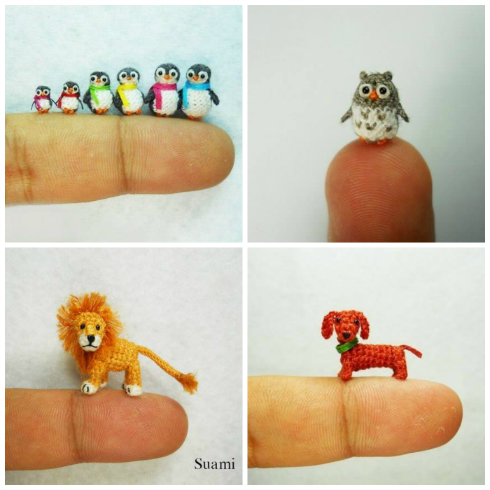 Miniature Crochet Animals (Free Patterns)