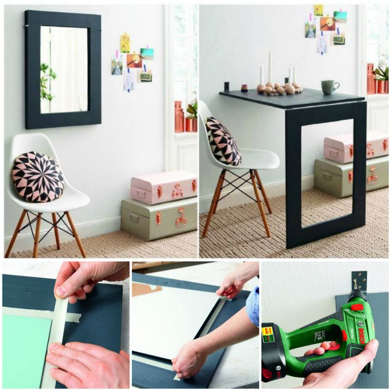 How to DIY Double Functional Mirror Folding Table