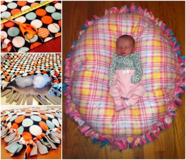 diy no sew floor pillow bed Diy Pillow Bed