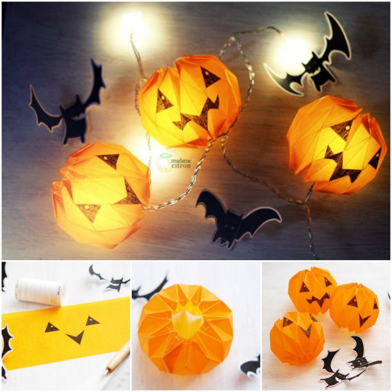 How To Diy Paper Origami Pumpkin Jack O Lantern