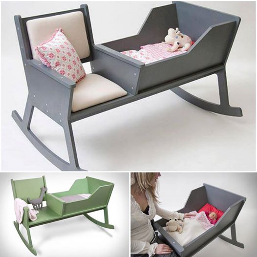 DIY Rocking Chair Cradle With a Crib