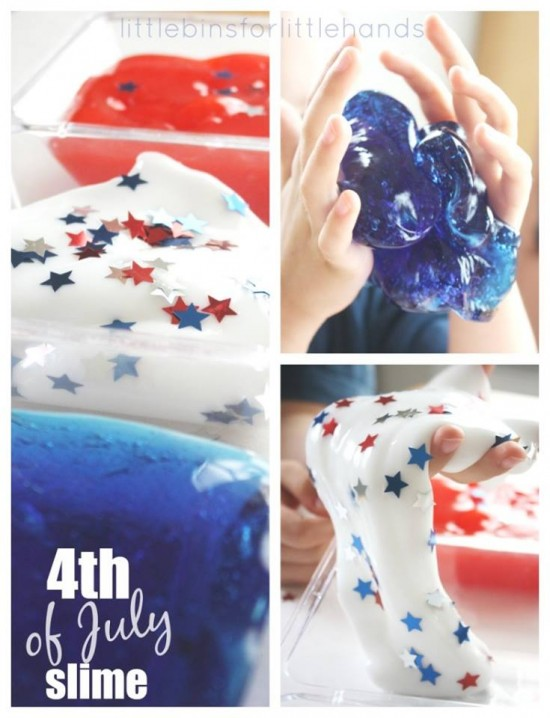 How to DIY Star Spangled Slime!