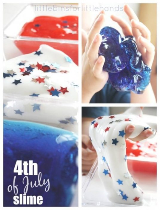 How to DIY Star Spangled Slime Recipe