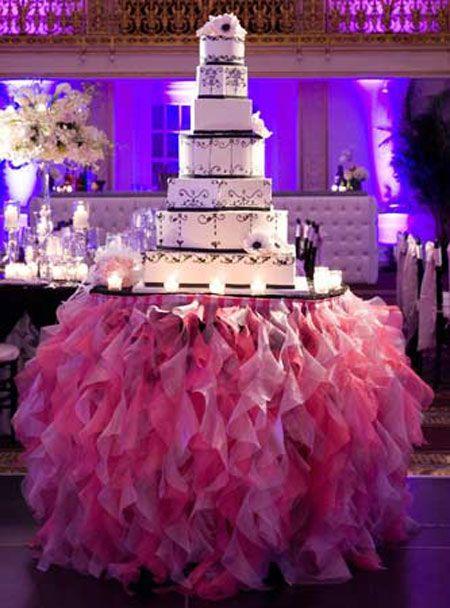 Outstanding Wedding Cake Tulle Table Skirt 450 x 608 · 53 kB · jpeg