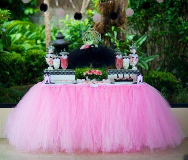 DIY No Sew Tulle Tutu Table Skirt (Video)