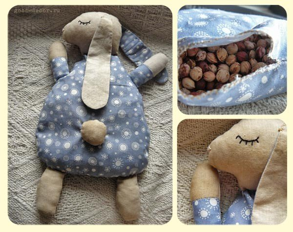 DIY Fabric Bunny Pillow Free Sewing Pattern & Tutorial