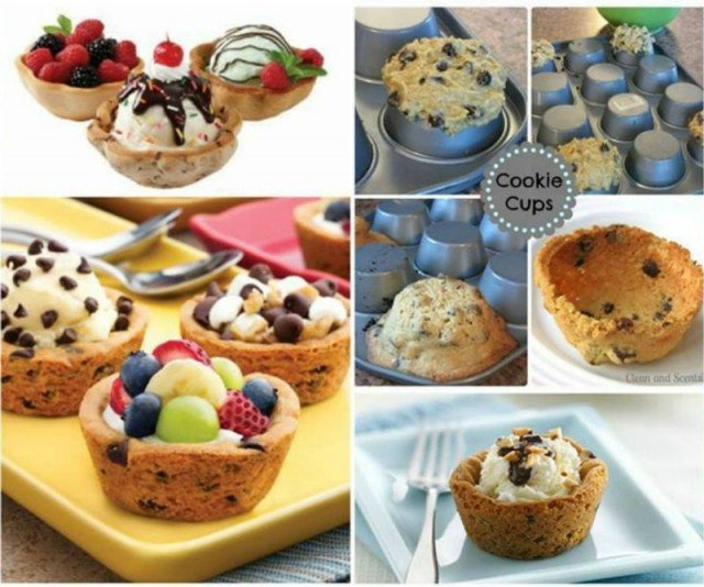DIY Cookie Cups from Muffin Tin