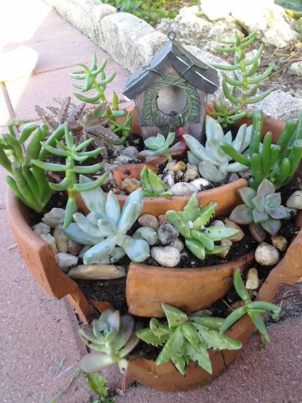 DIY Broken Pots Fairy Garden Tutorial Video