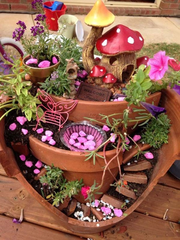 DIY Broken Pots Fairy Garden Tutorial Video