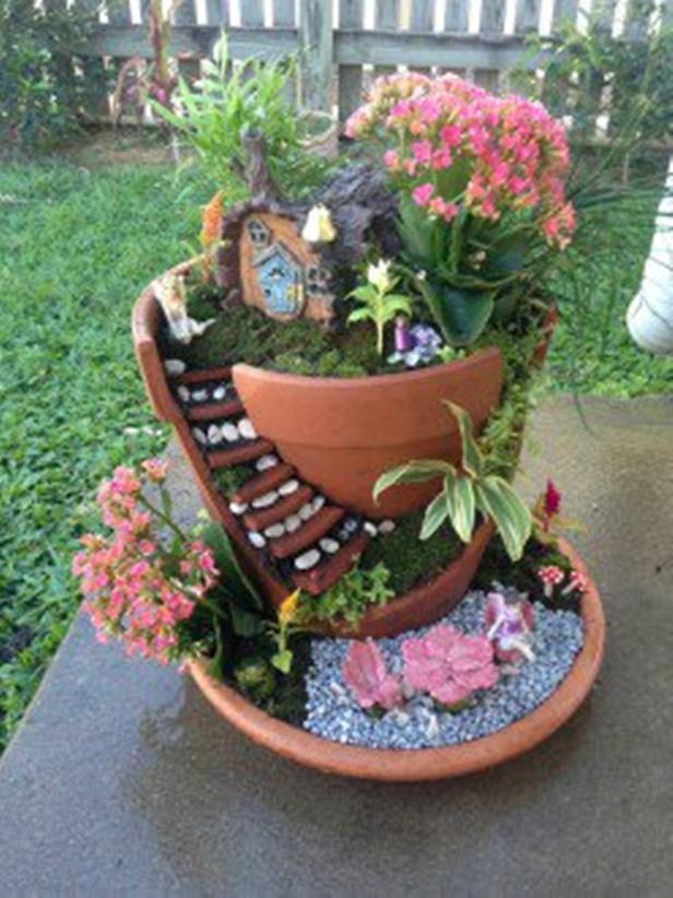 DIY Broken Pots Miniature Fairy Garden Tutorial