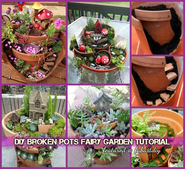 DIY Broken Pots Fairy Garden Tutorial-Video