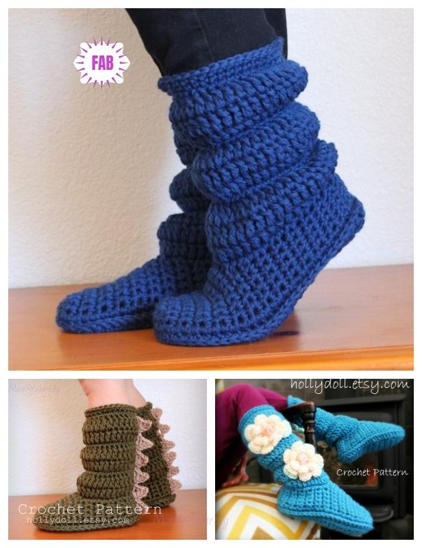 DIY Crochet Holly Doll Slipper Boots Crochet Patterns - Video