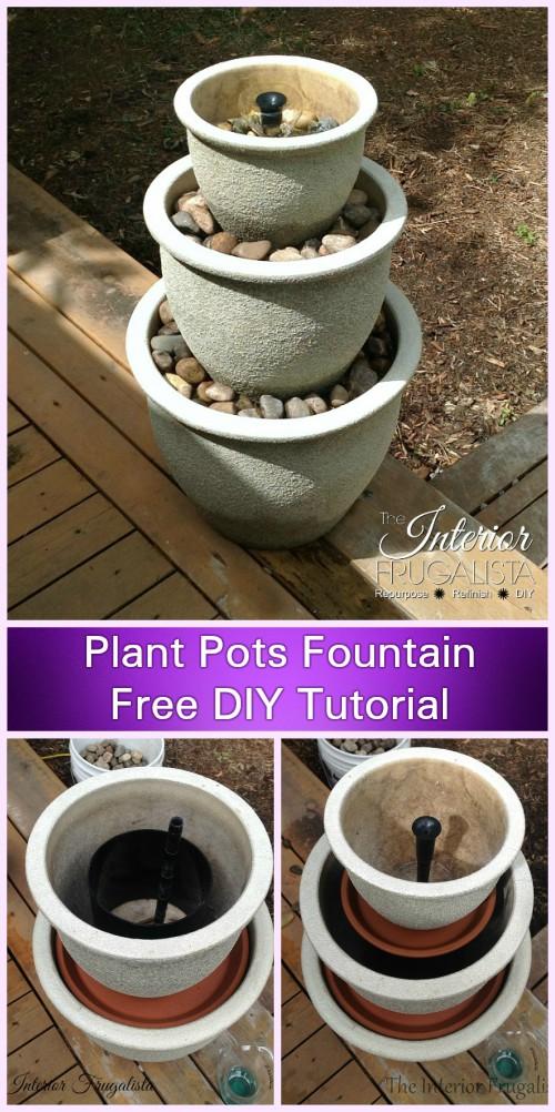 DIY Plant Pots Water Fountain Tutorial