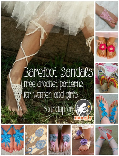 DIY Sexy Barefoot Sandals Free Crochet Patterns