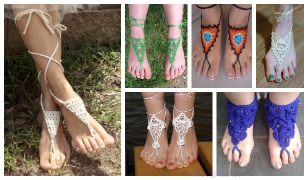 Tutorial Barefoot Diy Sandals Sexy Free Patternsamp; Crochet UMzSVGqp