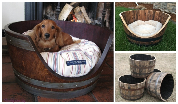 How To Turn A Wine Barrel Into A Dog Bed - DIY Tutorial