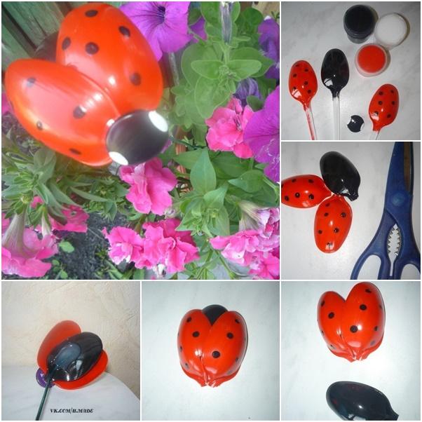DIY Plastic Spoon Ladybug Tutorial