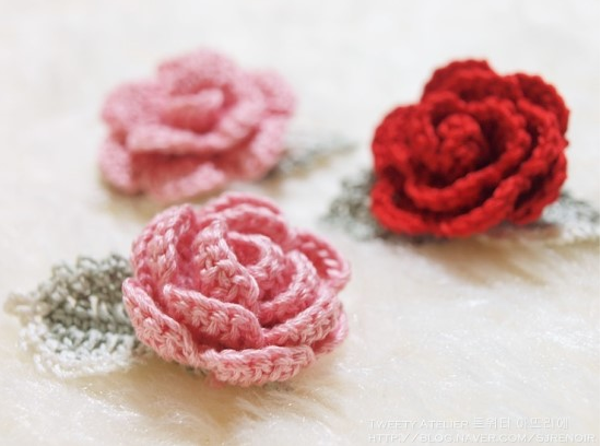 Diy 3d Crochet Rose With Stem Free Pattern