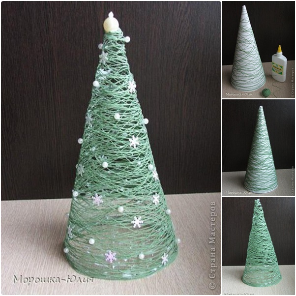 How To DIY Easy Thread Roll Christmas Tree