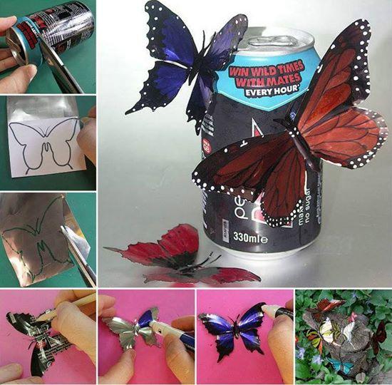 tin can butterflies