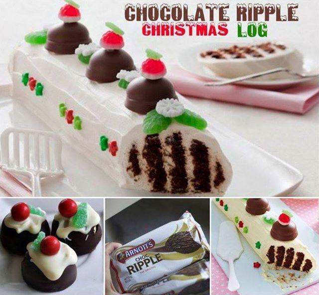 Chocolate Ripple Christmas Log