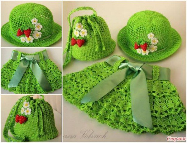 Crochet Summer Sunhat and skirt Set free pattern
