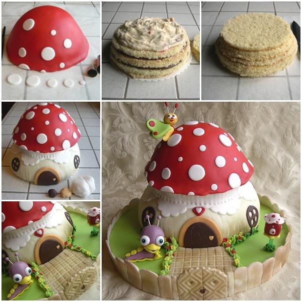 DIY Baby TV mushroom cake f