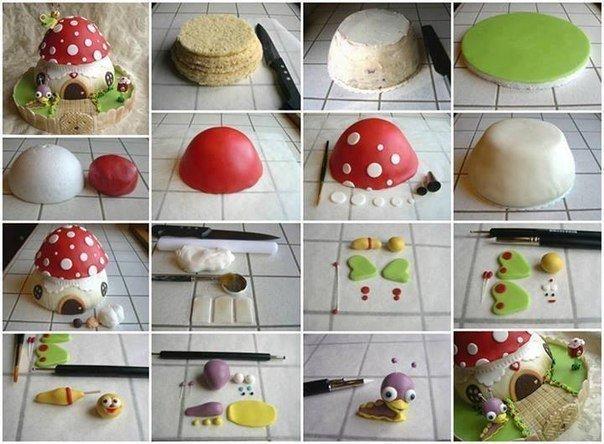 DIY Baby TV mushroom cake