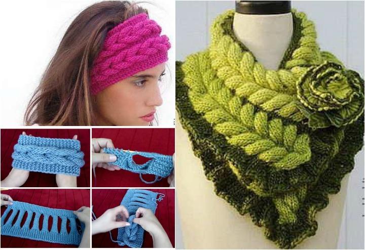 Diy Knitted Faux Braid Headband Free Pattern Video