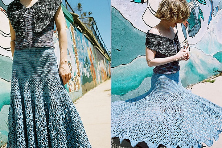 How To Diy Crochet Spiderweb Maxi Skirt Free Pattern