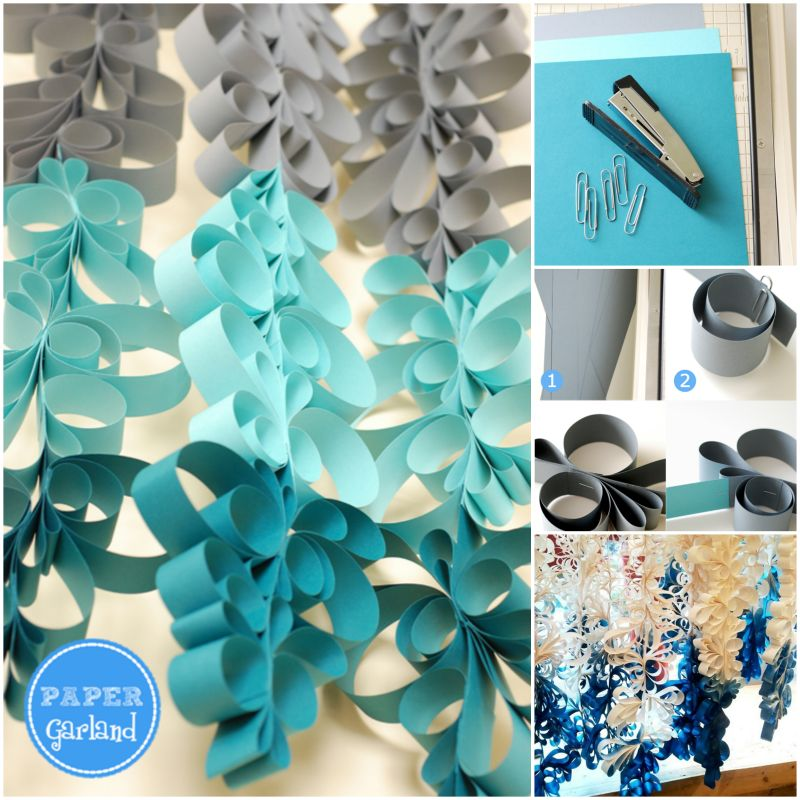 DIY Scroll Paper Garland
