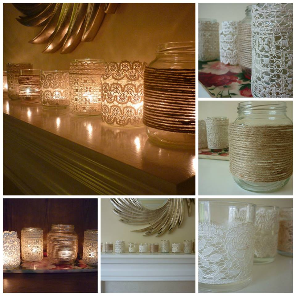 DIY Vintage Votives